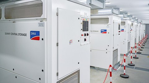 Storage systems with SMA battery inverters enable stable power supply using renewable energies